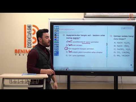79)Görkem ŞAHİN - Asitler Bazlar Tuzlar / Soru Çözümü (TYT-Kimya) 2020