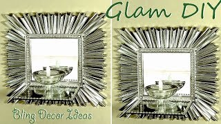 Dollar Tree DIY Glam Bling Candle Wall Sconces