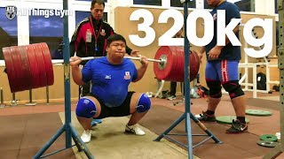 Eishiro Murakami 320kg / 705 lbs x5 Squat at Team Japan Training Camp in Germany