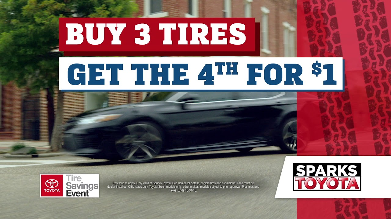Toyota Tire Sale >> Sparks Toyota Tire Sale Youtube