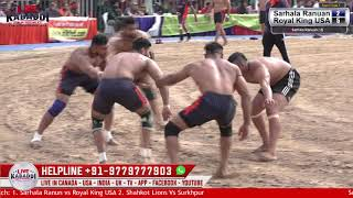 First Semi Final Anandpur Sahib Kabaddi Cup 2019 - Sarhala Ranuan v/s Royal King USA