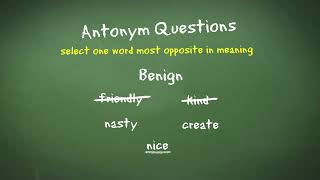 11 Plus Verbal Reasoning: Antonyms