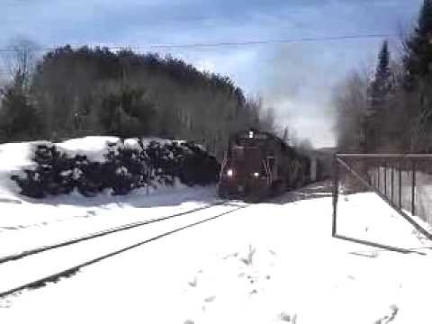 VTR freight train passing Mt. Holly, VT