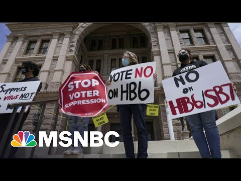 Protesters Swarm Texas Statehouse As Lawmakers Vote On Restrictive Voting Bill | MSNBC