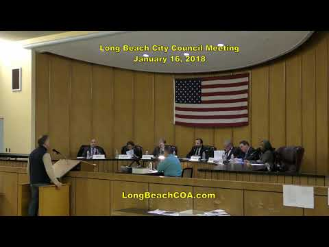 Long Beach City Council Meeting 01/16/18