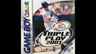 Triple Play 2001 (Nintendo Game Boy Color) - Atlanta Braves vs. Los Angeles Dodgers