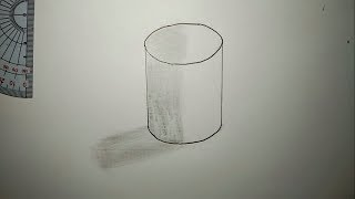 Very easy How to Draw Cylinder Free Trick Art For Kids