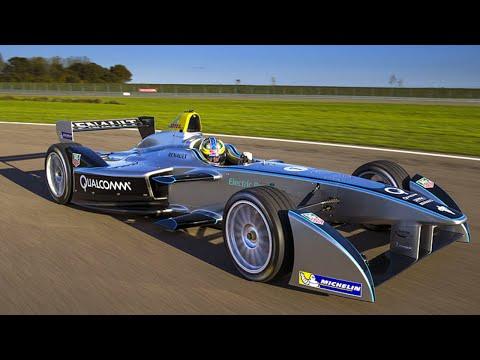 Jarno Trulli Test Driving Formula E