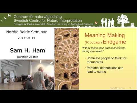Nordic seminar on heritage and nature interpretation, Sam H. Ham.