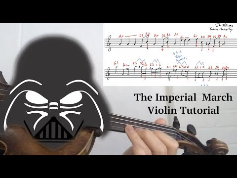 How to play Darth Vader's Theme Imperial March on Violin w/ Sheet Music and Violin Tabs