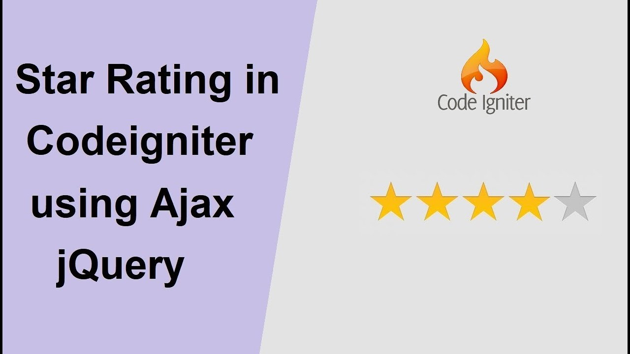 Ajax jQuery Based Star Rating System in Codeigniter | Webslesson