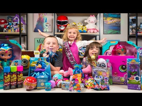 HUGE Happy Birthday Surprise Presents for Chloe Girl Toys Hatchimals My Little Pony Kinder Playtime