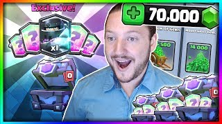 11 STRAIGHT LEGENDARIES!! Ultimate Chest Opening! 70,000 Gems 'Mega Knight' Gemming - Clash Royale
