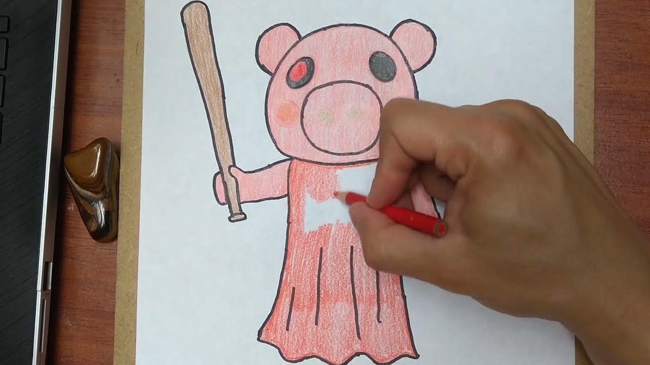 C 243 Mo Dibujar Y Pintar A 🐷piggy 🐽 De Roblox How To Draw And