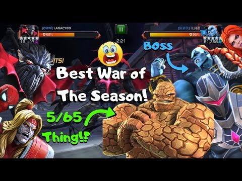AW 5/65 THING?! Best War of The Season! Champion Boss! - Marvel Contest of Champions