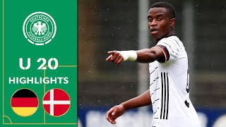 Überragender Moukoko wirbelt Abwehr durcheinander | Deutschland - Dänemark 1:2 | U 20 Highlights
