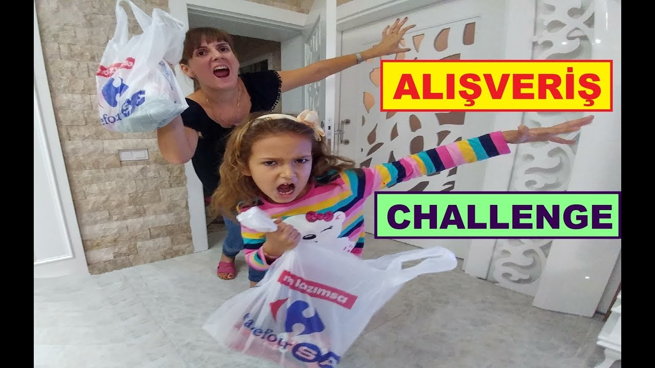 ALIŞVERİŞ CHALLANGE elif ve anne ile baba yarışıyor, eğlenceli alışveriş vlog videosu