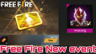 How to Free Fire New event free character  free 8 level card full details !! Neymar gamer