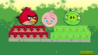 Angry Birds Kick Piggies - RED BIRDS KICK OUT ALL SQUARE PIG TO RESCUE STELLA!