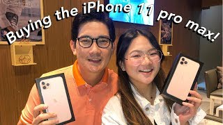 VLOGMAS: DAD & I BOUGHT THE IPHONE 11 PRO MAX! | ASHLEY SANDRINE