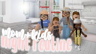 mom & kids NIGHT ROUTINE ♡ | bloxburg roleplay | alixia