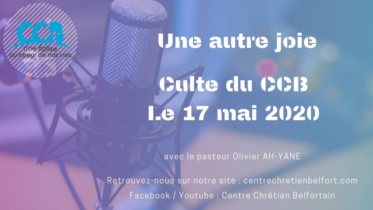 Une autre joie - Culte live du CCB