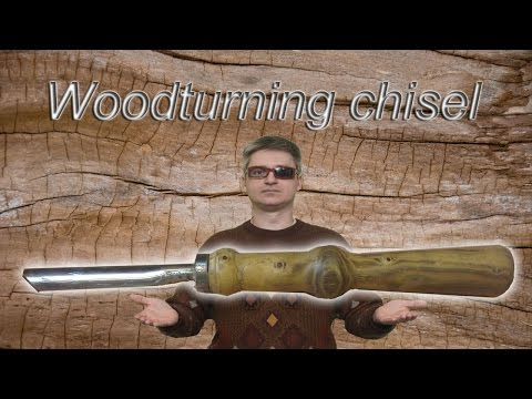 DIY. Homemade woodturning chisel like a bowl gouge.