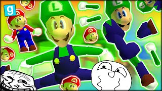 VERY FUNNY FUN, TROLLING WITH A FREEZE GUN - GMOD: GUESS WHO - LUIGI (Garry's Mod Funny Moments)
