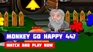 Monkey GO Happy: Stage 447 — Ring of the Lords · Game · Walkthrough