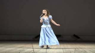 """""""Золушка"""". Элина Пузанкова, 8 лет. 7 марта 2014 года."""