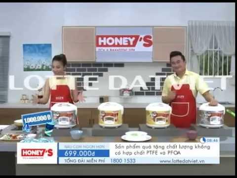 Nồi cơm điện honeys 1.8L Lotte Đất Việt