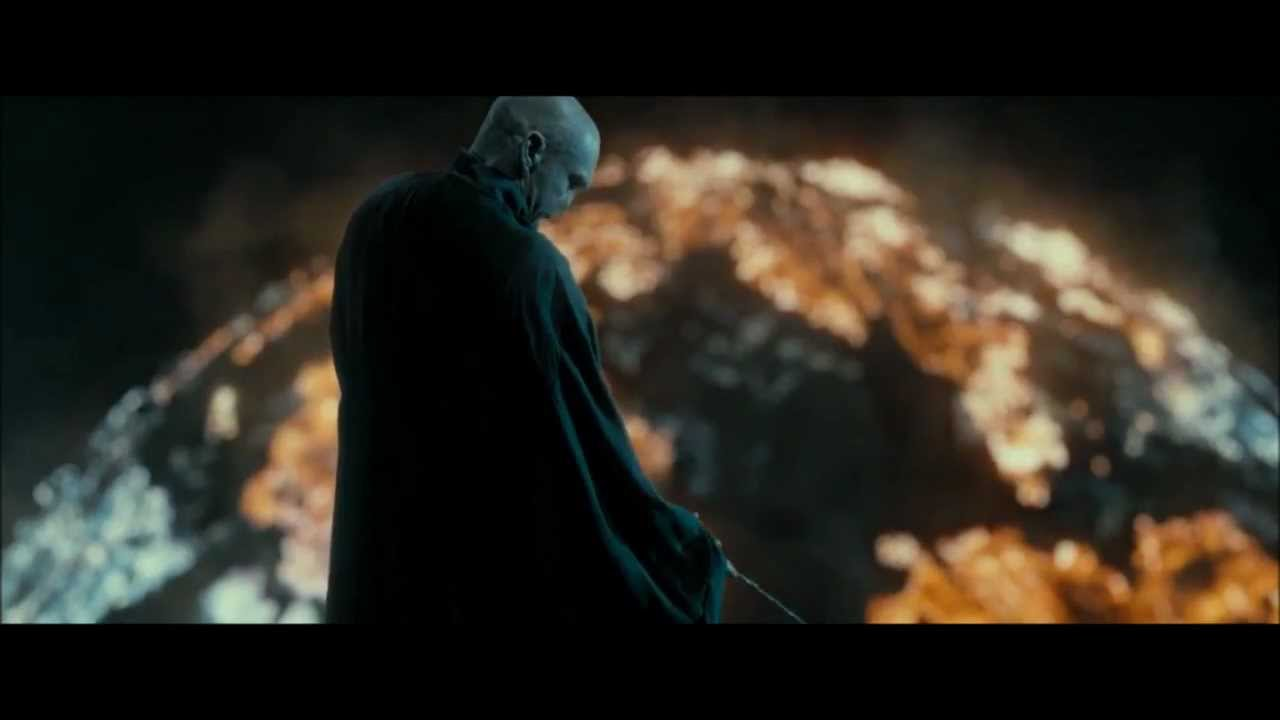 Ron/Hermione kiss & Voldemort using the Elder Wand (HD ...