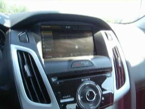 2013 ford focus red my ford touch navigation youtube. Black Bedroom Furniture Sets. Home Design Ideas
