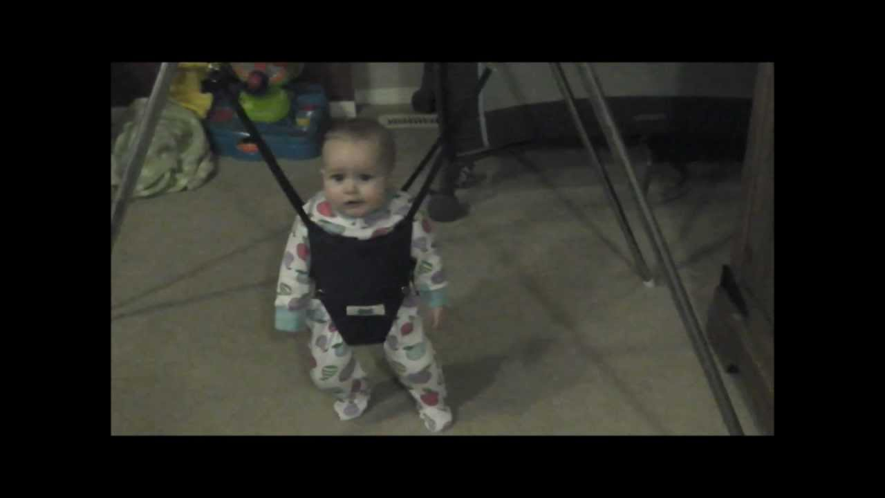 2d63a07d102e BABY ELIANA JUMPS WILDLY IN HER JOLLY JUMPER!!! SO CUTE!!! - YouTube