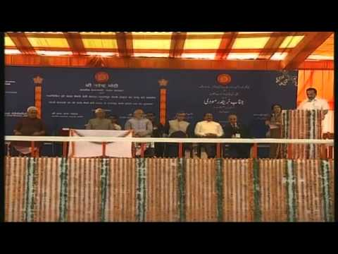 Shri D. V. Sadananda Gowda address after the inauguration of Udhampur-Katra rail link