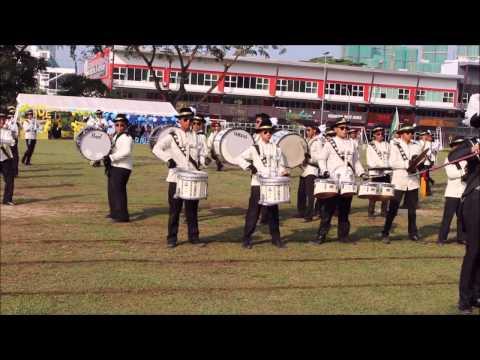 Pancaragam Maktab Sultan Abu Bakar | Sports Day 2017 (English College Marching Band)