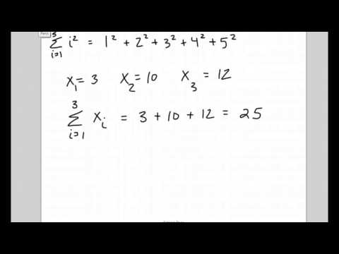 Intro to Summation Notation