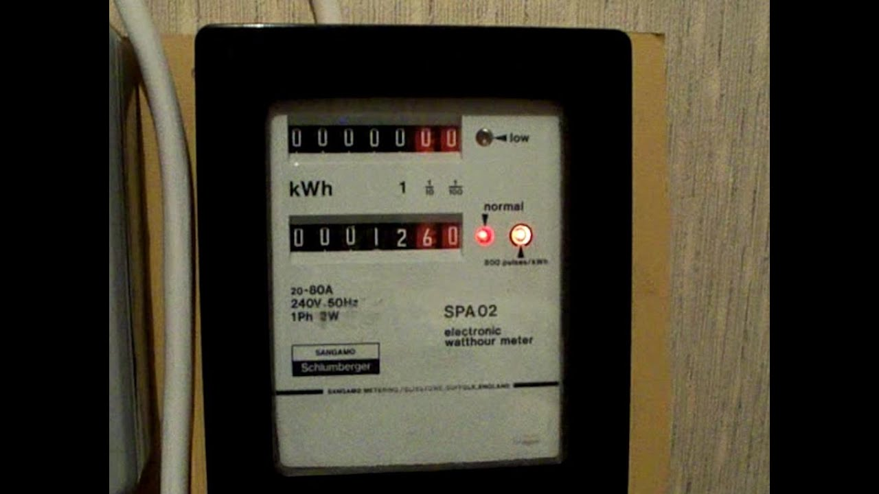 Electricity Meter Red Amp A Quot Greenie Quot At The Same Time