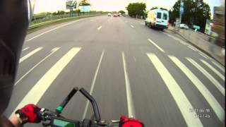 Читерский скутер, встречка, мотобайк и мусорка. Overpowered scooter