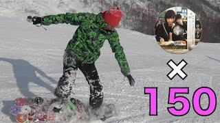なんとAV150枚でスノーボード作ってみた!!!
