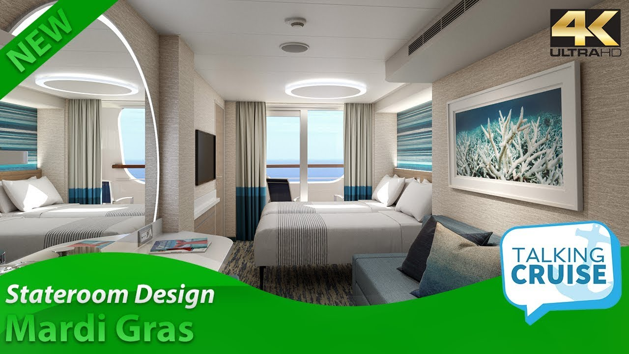 Carnival S Mardi Gras Stateroom Design Features Youtube