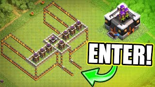 GEAR UP 3D TROLL BASE! - Clash Of Clans - PROTECT THE GEARED ARCHER TOWER!