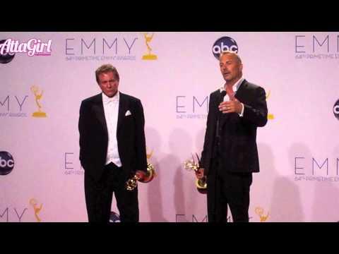 Kevin Costner & Tom Berenger Backstage Emmy Speech 2012