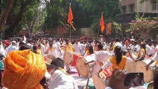 Utsav Dhol Tasha Pathak At Nerul Gudi Padwa Shobha Yatra 2017