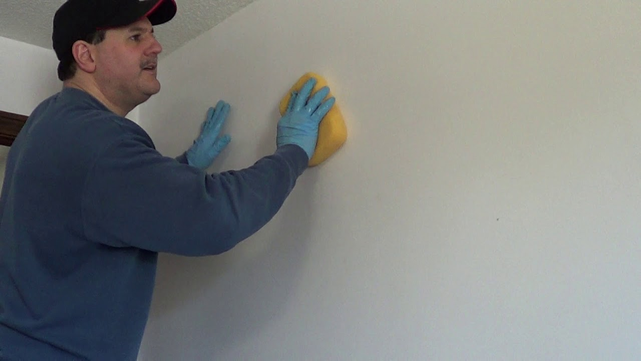 How To Remove Old Wallpaper Glue With Out Chemicals Once The Wallpaper Has Been Removed Youtube
