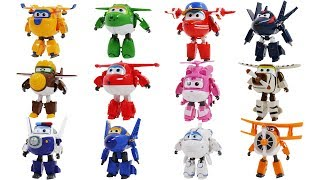 12 Super Wings transformers Toys for Kids - Airplane Robot Transforming Figure Movie for Children