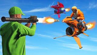 INTENSE RPG's vs. Flying ROCKET Bikes! (GTA 5 Funny Moments)