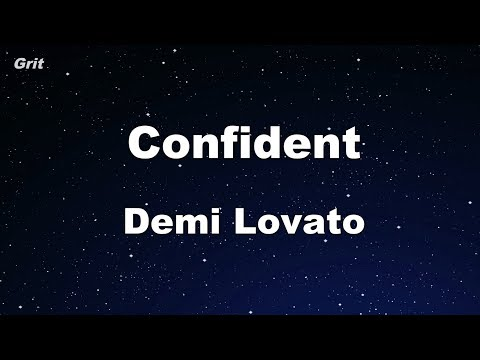 Confident - Demi Lovato Karaoke 【No Guide Melody】 Instrumental