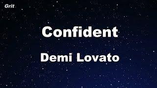 Confident - Demi Lovato Karaoke 【No Guide Melody】 Instrumental