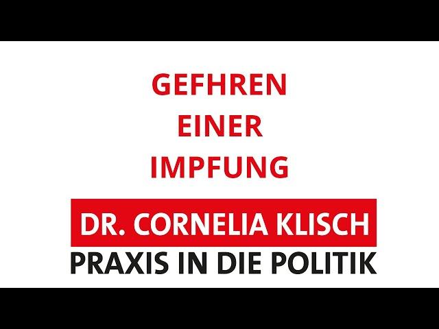 Gefahren einer Impfung - Dr. Cornelia Klisch - #thueringen